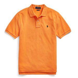 Ralph Lauren Orange Boys Cotton Mesh Polo Shirt